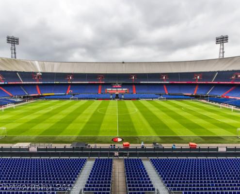 Feyenoord Rotterdam stadion de Kuip van binnen