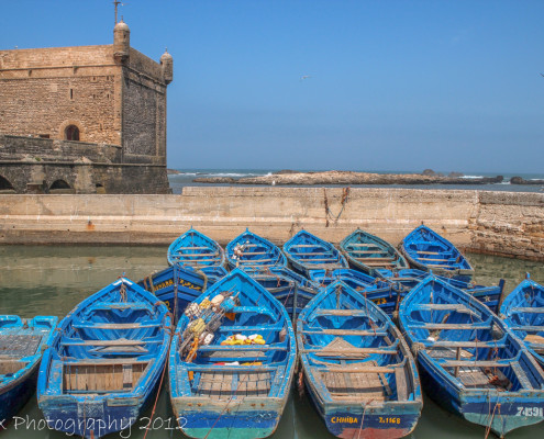 Foto's Marokko: vissersbootjes Essaouira