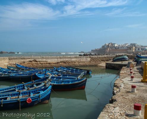 Foto's Marokko - vissersbootjes Essaouira