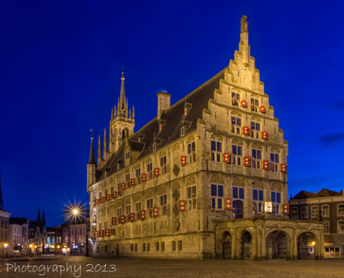 Avondfoto's - Gouda, Oude Stadshuis by Night   Tux Photography
