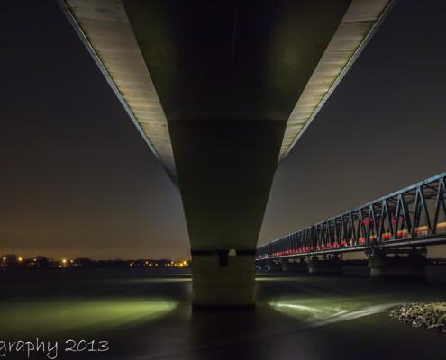 Avondfoto's - Moerdijk bruggen by Night | Tux Photography