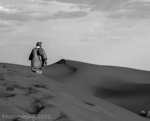 Foto's Marokko: Sahara zwart-wit
