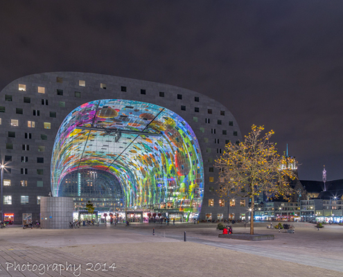 Rotterdam skyline foto - Markthal Rotterdam by Night | Tux Photography