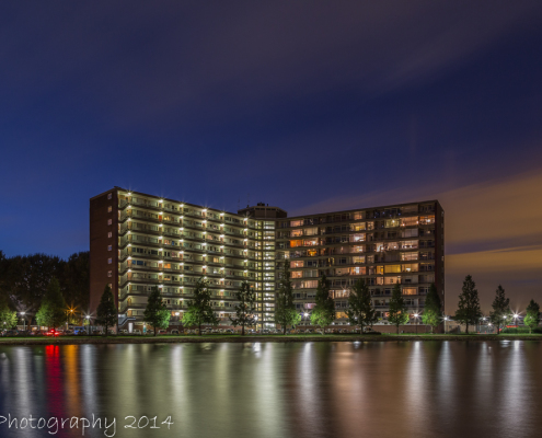 Avondfoto's - Papendrecht, Sterflat by Night | Tux Photography