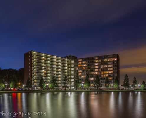 Avondfoto's - Papendrecht, Sterflat by Night | Tux Photography