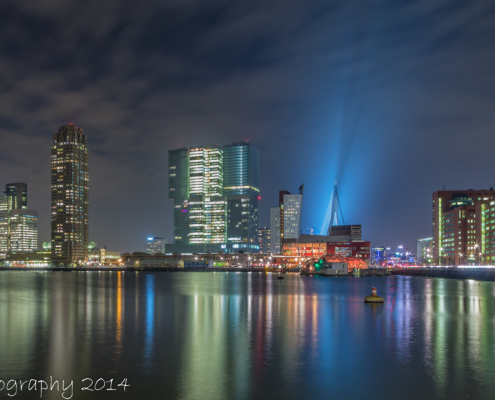 Rotterdam skyline foto by Night - Rijnhaven - Wilhelminapier - Erasmusbrug | Tux Photography