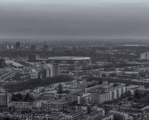 Feyenoord Rotterdam stadion de Kuip vanaf De Rotterdam