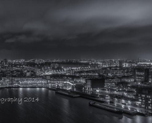 Rotterdam skyline foto by night - Rijnhaven - de Kuip - Rotterdam Zuid | Tux Photography