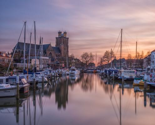 Foto's Dordrecht - Grote Kerk Dordrecht bij zonsondergang | Tux Photography