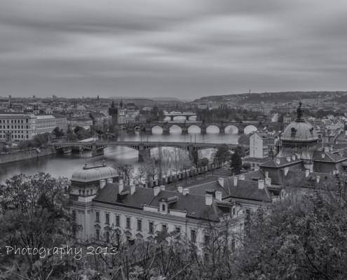 Foto's Praag - Overzicht over Praag | Zwart wit foto Tux Photography