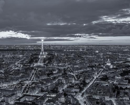 Avondfoto's - Foto Tour Montparnasse Parijs - fotografie met uitzicht op o.a. de Eiffeltoren