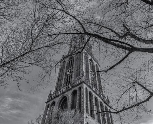 Foto's Utrecht - Foto Domtoren, stad Utrecht | Zwart-wit foto Tux Photography