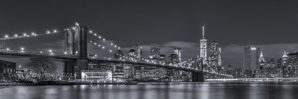 Brooklyn Bridge, Empire State Building, Skyline, Manhattan Bridge en ...