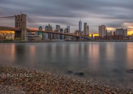 Foto's New York - Brooklyn Bridge bij zonsondergang   Foto Tux Photography