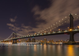 Foto's New York - Manhattan Bridge by night | Foto Tux Photography