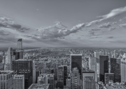 Foto's New York - Top of the Rock - Central Park uitzicht | Zwart-wit foto Tux Photography