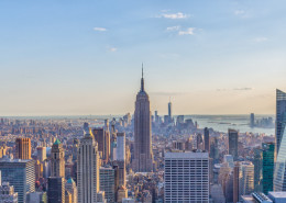 Foto's New York - Top of the Rock - Empire State Building uitzicht   Foto Tux Photography