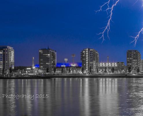 De Kuip met bliksem - Feyenoord Rotterdam - voetbal | Tux Photography
