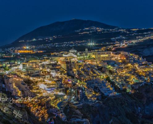 Foto's Santorini - Fira by Night