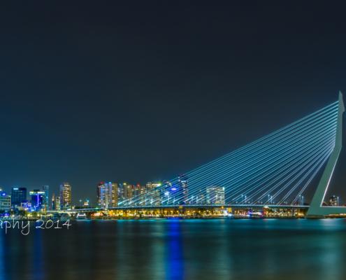 Rotterdam Skyline - Erasmusbrug by Night