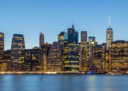 Foto's New York - Manhattan Skyline by Night panorma   Foto Tux Photography