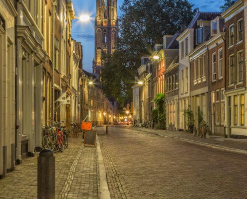 Foto's Utrecht - Foto Domtoren avond, stad Utrecht | Foto Tux Photography