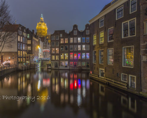 Foto's Amsterdam - Oudezijds Voorburgwal by Night | Tux Photography