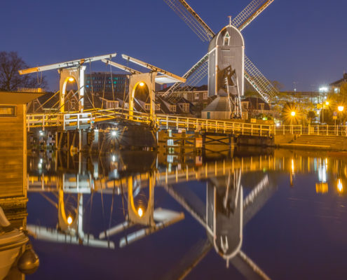 Avondfoto's - Leiden by Night, Molen de Put | Tux Photography