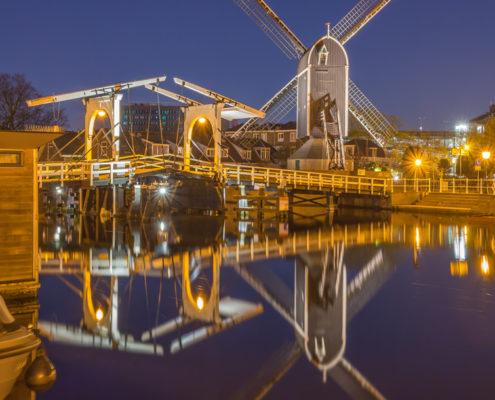 Avondfoto's - Leiden by Night, Molen de Put | Tux Photography