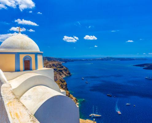 Foto's Santorini - Uitzicht vanuit Fira