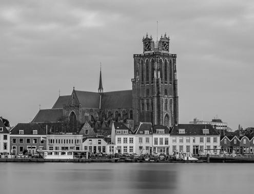 Foto's Dordrecht - Panorama van Dordrecht met de Grote Kerk | Tux Photography