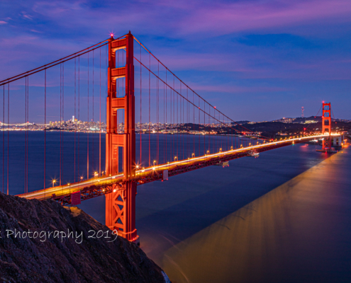 Foto's San Francisco - Golden Gate Bridge in de avond