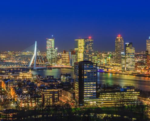 Rotterdam Skyline - Uitzicht vanaf de Euromast - 1