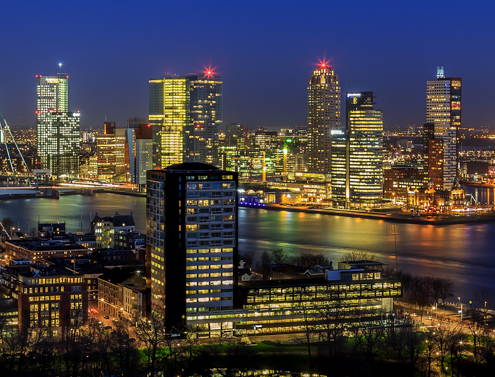 Rotterdam Skyline - Uitzicht vanaf de Euromast - 5